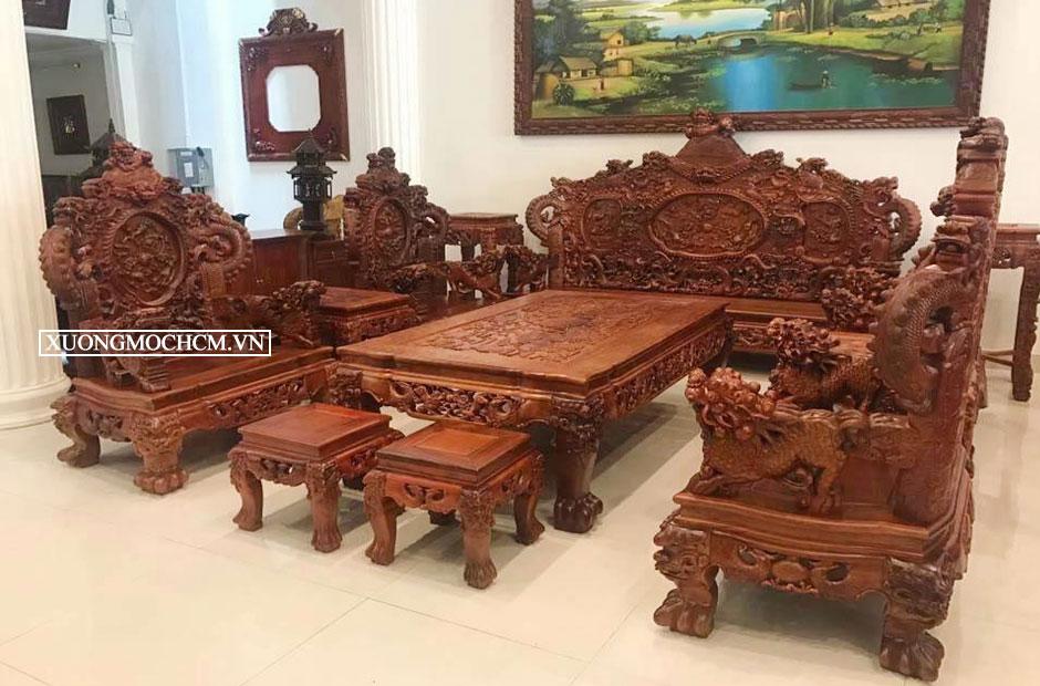 Bàn ghế tiếp khách đẹp bằng gỗ