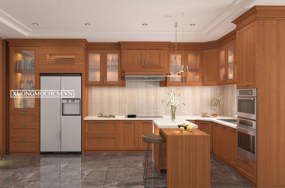 Tủ bếp gỗ xoan đào sự lựa chọn tuyệt vời