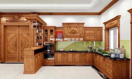 Tủ bếp gõ đỏ
